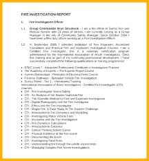 Fire Incident Report Template
