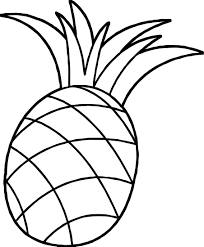 Small Picture One Pineapple Coloring Page Wecoloringpage