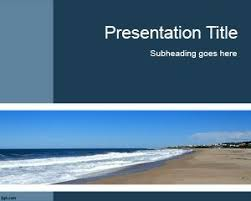 Free Beach Powerpoint Templates Page 3 Of 4