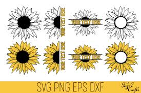 This free svg cut file comes in a single zip file with the following file formats: Sunflower Cut Files Pack Graphic By Anastasia Feya Creative Fabrica