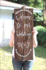 rustic wooden wedding sign welcome sign wedding keepsake wd 20