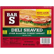 Walmart Deli Nutrition Chart Bar S Deli Shaved Oven Roasted Turkey 8 Oz Walmart Com