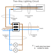 two way lighting circuit wiring sparkyfacts co uk 2 way wiring diagram for lights at 2 Way Wiring Diagram