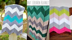 Chevron Knitting Pattern Beauteous KNITTING TUTORIALCHEVRON BLANKET YouTube