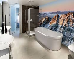 ... Incredible Guest Bathroom Wallpaper Ideas City Gate Beach Road Also  Majestic Looking Bathroom Wallpaper Ideas ...