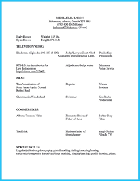 Awesome Brilliant Acting Resume Template To Get Inspired Resume