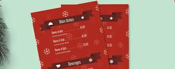 Design A Menu Free Free Templates Christmas Menu Design Tips