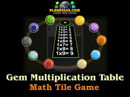 Gems Multiplication Table | Online Math Game