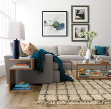 Crate And Barrel Living Room Design Chicago Crate And Barrel Baxter Rug Living Room Contemporary