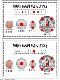Worksheet. Touch Math Money Worksheets. Caytailoc Free Printables ...