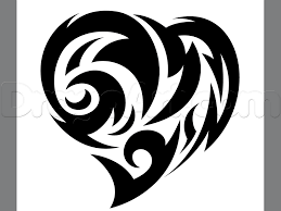 How To Draw A Tribal Heart Tattoo Step By Step Tattoos Pop