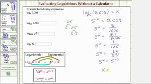ex evaluate logarithmic expressions without a calculator diffe bases you