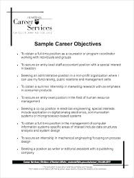 Good Resume Objectives Unique Top Resume Objective Statements Universitypress