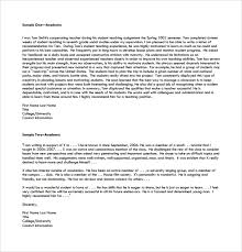 15 College Recommendation Letters Pdf Word Sample Templates