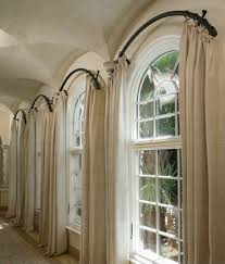 Arched Window Drapery Ideas  Arched Windows Curtains On Hooks Semi Circle Window Blinds