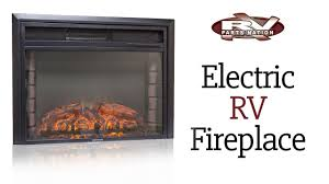 Electric RV Fireplace - YouTube