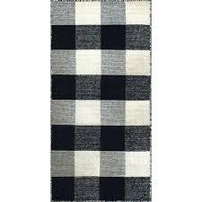 black and white plaid rug royal black white rug black and white plaid rug target
