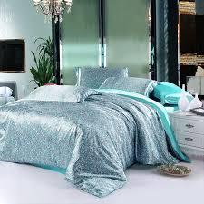 amorous feelings water blue silk duvet cover set silk bedding