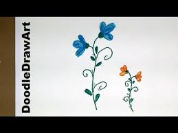 Small Picture Drawing How To Draw Flowers Step by Step easy cartoon Posies