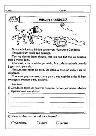 Interpretação de texto-Mussum e Condessa · Alfabetização Blog