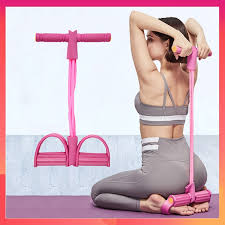 4 Tubes <b>Rubber</b> Bands Fitness Pilates Yoga Rope Multi Function ...