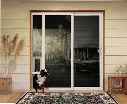 sliding doors with pet access custom home