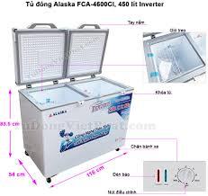 Tủ đông Alaska FCA-4600CI 450L 2 ngăn đông mát Inverter Giá rẻ T11/20
