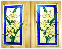 stained glass cabinet inserts kitchen doors door in leaded cabinets hen panels for c