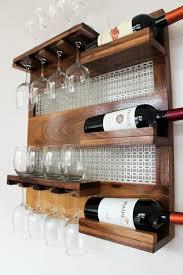 real walnut wood wall mounted wine