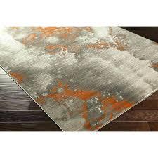 s orange and grey area rug deasia light gray