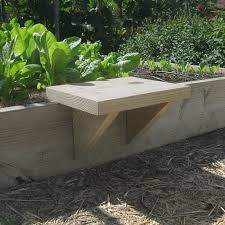Small Picture DIY Raised Bed Seat The solution was to build a movable seat