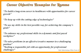 Career Objectives For Resume Examples Objective Resume Samples Imcbet 45