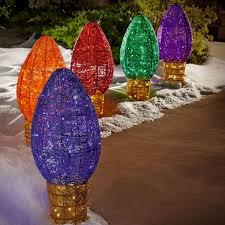 Christmas Light Bulbs For Sale Jumbo C9 Outdoor Light Sculptures Set Of 5 Sams Club