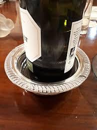 Amazing A Silver Wine Bottle Coaster.