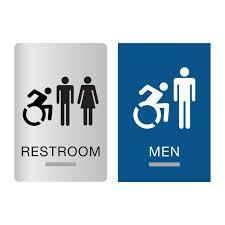 bathrooms signs. New York ADA Braille Restroom Signs Bathrooms A