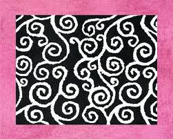 pink and black bathroom rugs bath modest design white contemporary rug 30 50