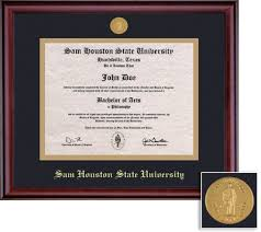 sam houston state university bookstore framing success classic  framing success classic double matted diploma frame in a burnished cherry finish