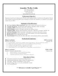 Medical Coding Resume Entry Level Medical Billing Resume Www Picswe Com