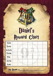 Harry Potter Reward Behaviour Chart With Free Stickers Dry Wipe Pen Ebay