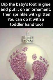 DIY CHRISTMAS GLITTER JARS They Are Made With Baby Food Jars Christmas Crafts With Babies