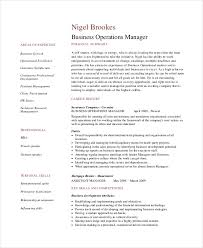 Operations Resume Examples 7 Operations Manager Resume Free Sample Example Format