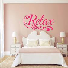 relax swirls flower decal art vinyl wall sticker home decor beauty salon spa bedroom