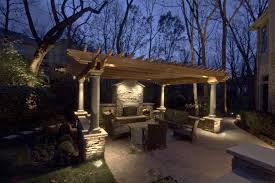 outdoor accent lighting ideas. want accent lighting on the pergola fireplace and around property coop base of trees in orchard lamp post at drive entrance outdoor ideas