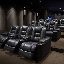 3 seater cinema recliner sofa with cup
