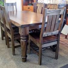 beautiful ideas real wood dining room sets wormy maple hoover live edge harvest table with ranch