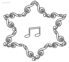 Printable Music Note Coloring Pages For