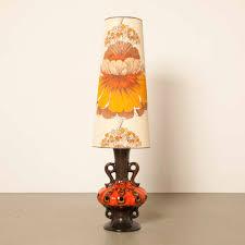 West Germany Rood Keramiek Tafellamp Neef Louis