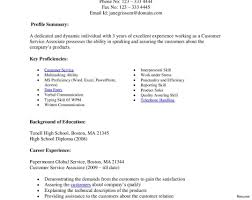 Skills For Resume Customer Service Example Resume Objectives Objective For Skills 91