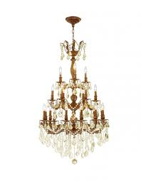 versailles collection 21 light french gold finish and golden teak crystal chandelier 29 d x