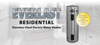 Electric Water Heater 40 Gallon Htp Everlast Residential Electric Water Heater